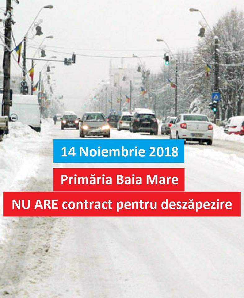 Să vină iarna în Baia Mare