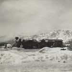 foto: tren în gara din Prislop - Primul Război Mondial
